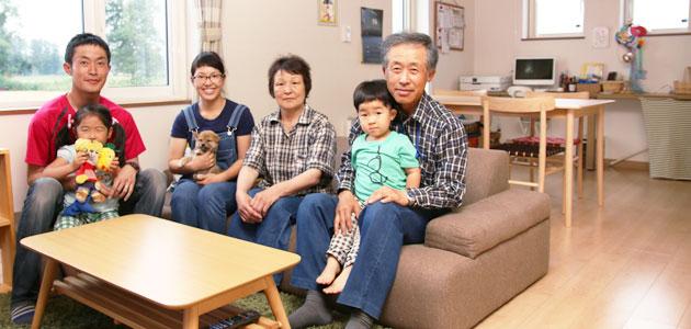 2世帯なのに、気密性が高い住宅